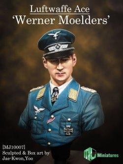 """画像1: MJ Miniatures[MJ10-007]1/10 ドイツ空軍エース""""ヴェルナー・メルダース"""""""
