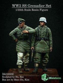 画像1: MJ Miniatures[MJ35009]1/35 WWII独 武装親衛隊擲弾兵セット(2体セット)冬季防寒服
