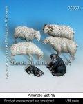 マンティス・ミニチュアズ[Man35063]1/35 動物セット16 羊と牧羊犬
