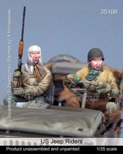 画像1: マンティス・ミニチュアズ[Man35109]1/35 WWII米 ジープ搭乗兵 (2体セット)
