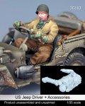 マンティス・ミニチュアズ[Man35110]1/35 WWII米 ジープドライバー+車載品セット(タミヤ用)