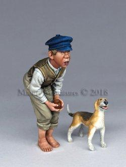 画像1: マンティス・ミニチュアズ[Man35113]1/35 村の子供と犬