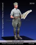 マンティス・ミニチュアズ[Man35118]1/35 WWII 独 SS 武装親衛隊 戦況を確認するSS士官
