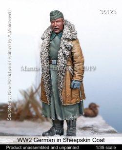 画像1: マンティス・ミニチュアズ[Man35123]1/35 WW2 独 ドイツ陸軍 羊革のコートを着た士官