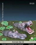マンティス・ミニチュアズ[Man35125]1/35動物セット34 淡水の水辺に棲む動物編カバ