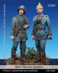 マンティス・ミニチュアズ[Man35089]1/35 WWI独 兵士セット(突撃兵&ピッケルハウベ着用)(2体セット)