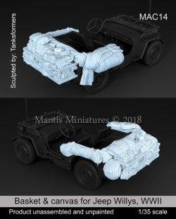 画像1: マンティス・ミニチュアズ[MAC14]1/35 WWII米 ジープ車載品&バスケットセット(タミヤ用)