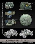 マンティス・ミニチュアズ[MAC18]1/35 WWII 独 Sd.Kfz.222用車外装備品&予備タイヤセット(タミヤ用)