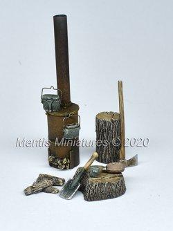 画像1: マンティス・ミニチュアズ[MAC21]1/35 ジオラマ素材 ドイツ式薪ストーブ