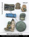 マンティス・ミニチュアズ[MAC27]1/35 現用 ドイツ連邦軍 MBウルフ用車載アクセサリーセット(レベル用)