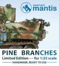 マンティス・ミニチュアズ[VC01]1/35 WWII ジオラマ用アクセサリー 針葉樹の枝 車両向けカモフラージュ用