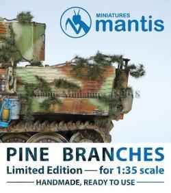 画像1: マンティス・ミニチュアズ[VC01]1/35 WWII ジオラマ用アクセサリー 針葉樹の枝 車両向けカモフラージュ用