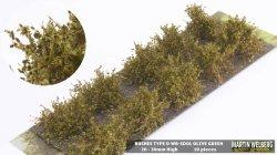 画像1: マーティンウェルバーグ[WB-SDOL]茂みD 株タイプ 全高20mm オリーブグリーン 10株