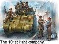 マスターボックス[MB35164]1/35 英戦車兵+米降下兵7体+子供を抱いた女性・フランス1944