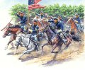 マスターボックス[MB3550]1/35 南北戦争・北軍騎兵隊・騎兵3体+馬3頭1860年代