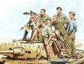 マスターボックス[MB3561] 1/35 独・DAKアフリカ軍団ロンメル将軍&司令部将校・戦車上