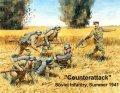 マスターボックス[MB3563]露・赤軍歩兵突撃シーン1941年6体12ポーズマルチ化