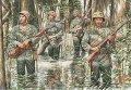 マスターボックス[MB3589] 1/35 アメリカ海兵隊4体太平洋戦争ジャングル戦
