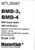 MasterClub[ MTL-35087]Tracks for BMD-3/ BMD-4