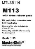 Master Club[MTL-35114]1/35 現用 米 M113用履帯(使い古いしたゴムパッド付)