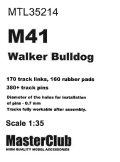 MasterClub[ MTL-35214]Tracks for M41 Walker Bulldog T91E3