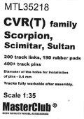 MasterClub[ MTL-35218]Tracks for CVR(T) family,Scorpion/Scimitar/Sultan Early type