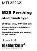 Master Club[ MTL-35232]1/35 WWII 米 M26パーシング用全鋼製履帯