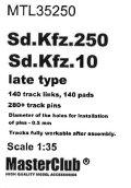 MasterClub[ MTL-35250]Tracks for Sd.Kfz 250