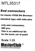 MasterClub[ MTL-35317]End connectors (w. tube pins) for tracks VVSS M4 Sherman, only end connectors 380 pcs, this is an additional kit for the set of pads