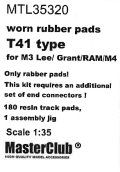 MasterClub[ MTL-35320]Worn rubber pads T41 type for M3 Lee/Grant/RAM/M4, only pads 180 pcs, an additional set of end connectors is required