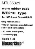 MasterClub[ MTL-35321]Worn rubber pads WE210 type for M3 Lee/Grant/RAM/M4, only pads 180 pcs, an additional set of end connectors is required