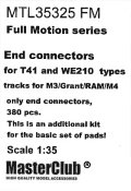 MasterClub[ MTL-35325 FM]Full Motion end connectors for M3 Lee/Grant/RAM T41 and WE210  types track, only end connectors 380 pcs, this is an additional kit for the set of pads, limited edition