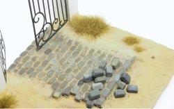 画像1: マソモデル[MH35020]丸石の舗石セット