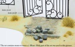 画像2: マソモデル[MH35020]丸石の舗石セット