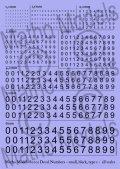 マソモデル[MH80001]スケールフリー 黒色数字デカール タイプ1 小サイズ