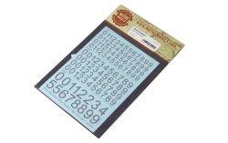 画像3: マソモデル[MH80002]スケールフリー ナンバーデカール ラージサイズタイプ1 黒色セット