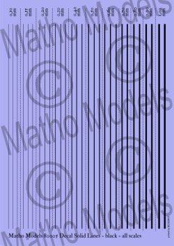 画像1: マソモデル[MH80005]スケールフリー ラインデカール 黒色実線セット