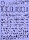マソモデル[MH80012]スケールフリー アルファベット小文字デカール 黒色セット 1.0〜3.0mmサイズ