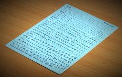 画像3: マソモデル[MH80012]スケールフリー アルファベット小文字デカール 黒色セット 1.0〜3.0mmサイズ