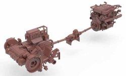 画像2: モンモデル[MENSPS-037]1/35 ドイツ重戦車キングタイガーヘンシェル砲塔インテリアセット