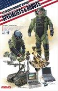 モンモデル[MENHS-003]1/35 アメリカ爆発物処理作業者とロボット