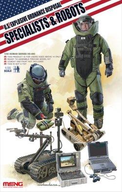画像1: モンモデル[MENHS-003]1/35 アメリカ爆発物処理作業者とロボット