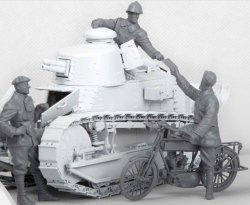画像2: モンモデル[MENHS-005]1/35 フランス軽戦車FT-17乗員と通信兵セット
