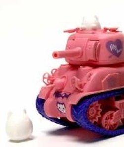 画像2: モンモデル[MENWWP-002s]WWT M4A1シャーマン ピンクカラーバージョン レジンフィギュア付