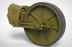 画像2: FuryModels[FM35011]1/35 M5A1軽戦車/M8自走砲用ゴム付誘導輪&サスペンション後期型セット