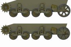 画像2: FuryModels[FM35015]1/35 M5A1軽戦車/M8自走砲後期型用転輪&サスペンションセット