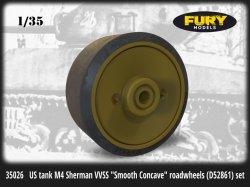 画像1: FuryModels[FM35026]1/35 M4シャーマン戦車 VVSS用スムーズコンケイブス(デニッシュ型)転輪(C85163)セット