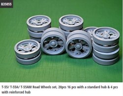 画像1: Miniarm[B35055]1/35 T-55A Road Wheels set,16 pcs with standard & 4 pcs reinforced hub