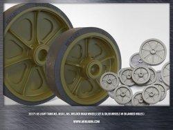 画像1: Miniarm[B35171]1/35 WWII米 M3/M5スチュアート 転輪&誘導輪(穴塞ぎタイプ)