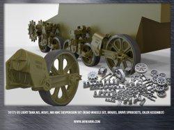 画像1: Miniarm[B35175]1/35 WWII米 M5/M5A1スチュアート/M8自走砲 足回りセット